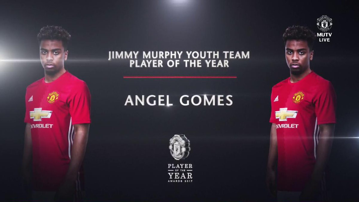 'A dream come true!' Angel Gomes reacts to winning the #MUFCPOTY Youth Team Player of the Year award...