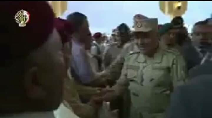 Tribes of Libya receive the team Mahmoud Hijazi, saying Long live Egypt as president and people and army Long live the Egyptian armed forces