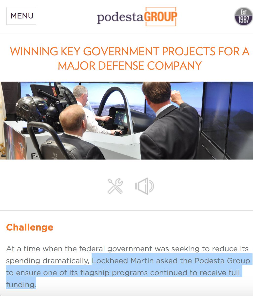 Image result for podesta group lockheed
