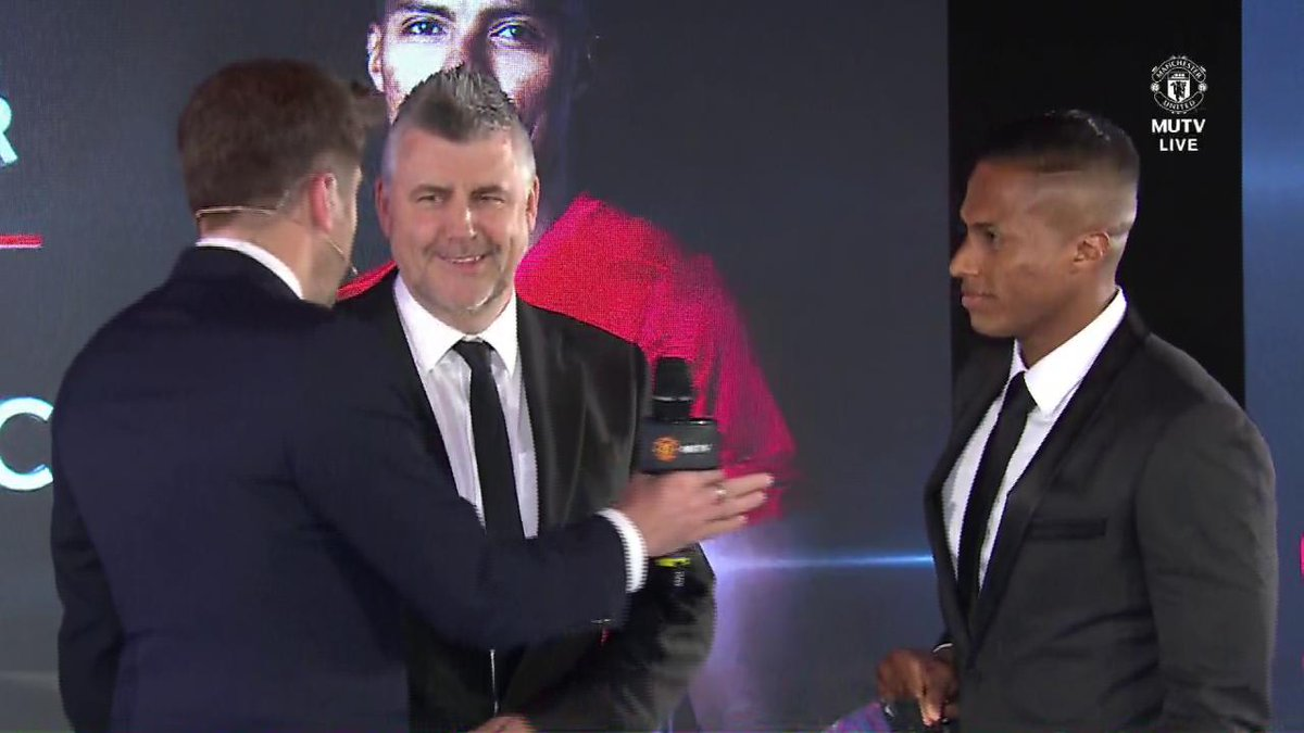 Get @Anto_V25's reaction following his Players' Player of the Season award... #MUFCPOTY