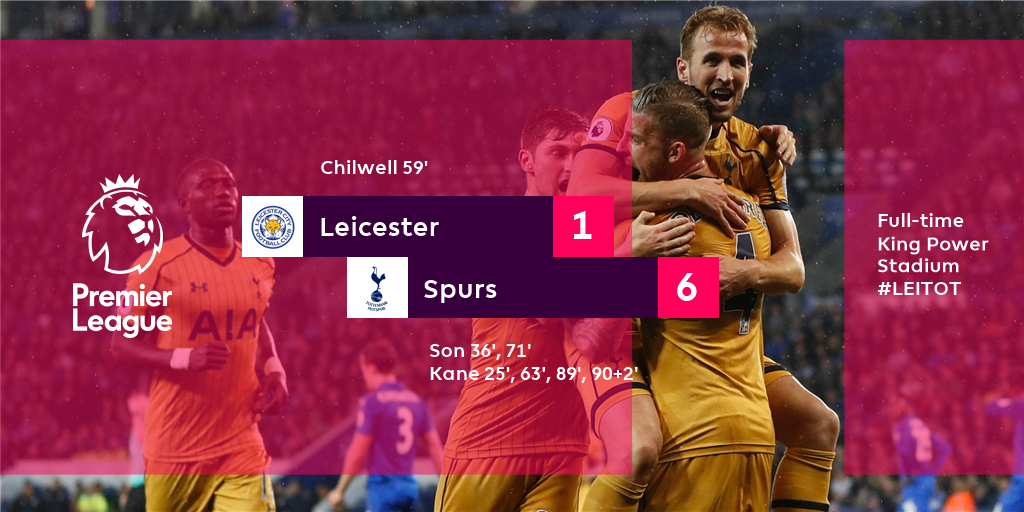 Spurs completely blow Leicester away after a Kane and Son masterclass #LEITOT
