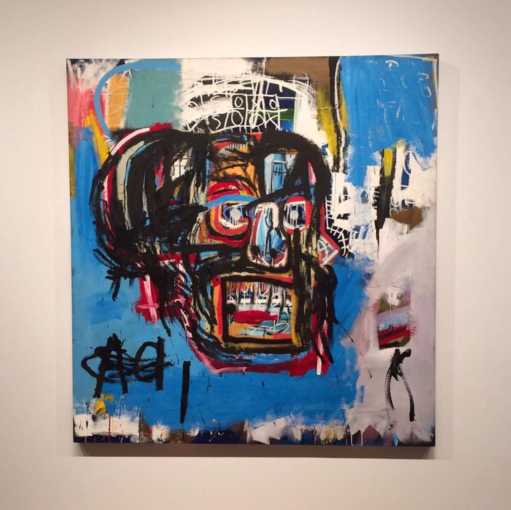 Bought in 1984 for $19,000 and sold tonight for a record-breaking $110 million. He&#39;s in the same league as Picasso. #Basquiat <br>http://pic.twitter.com/bfH3qf8IMT
