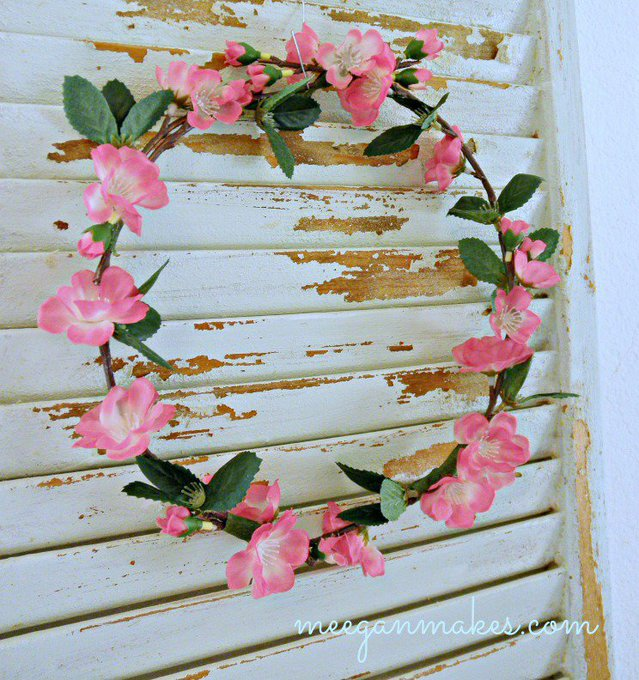 DIY Cherry Blossom Wreath