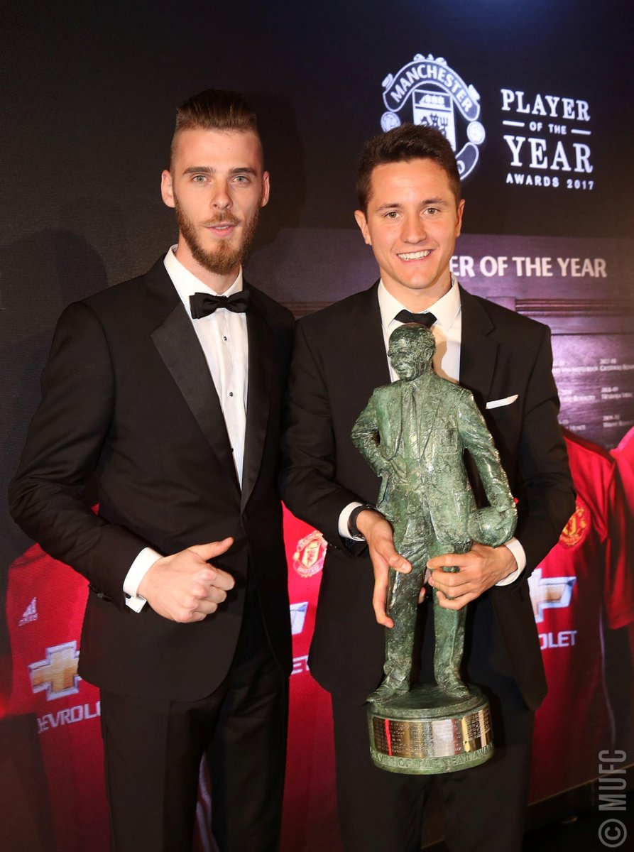 You've voted @AnderHerrera the Sir Matt Busby Player of the Year for 2016/17 - well deserved! #MUFCPOTY