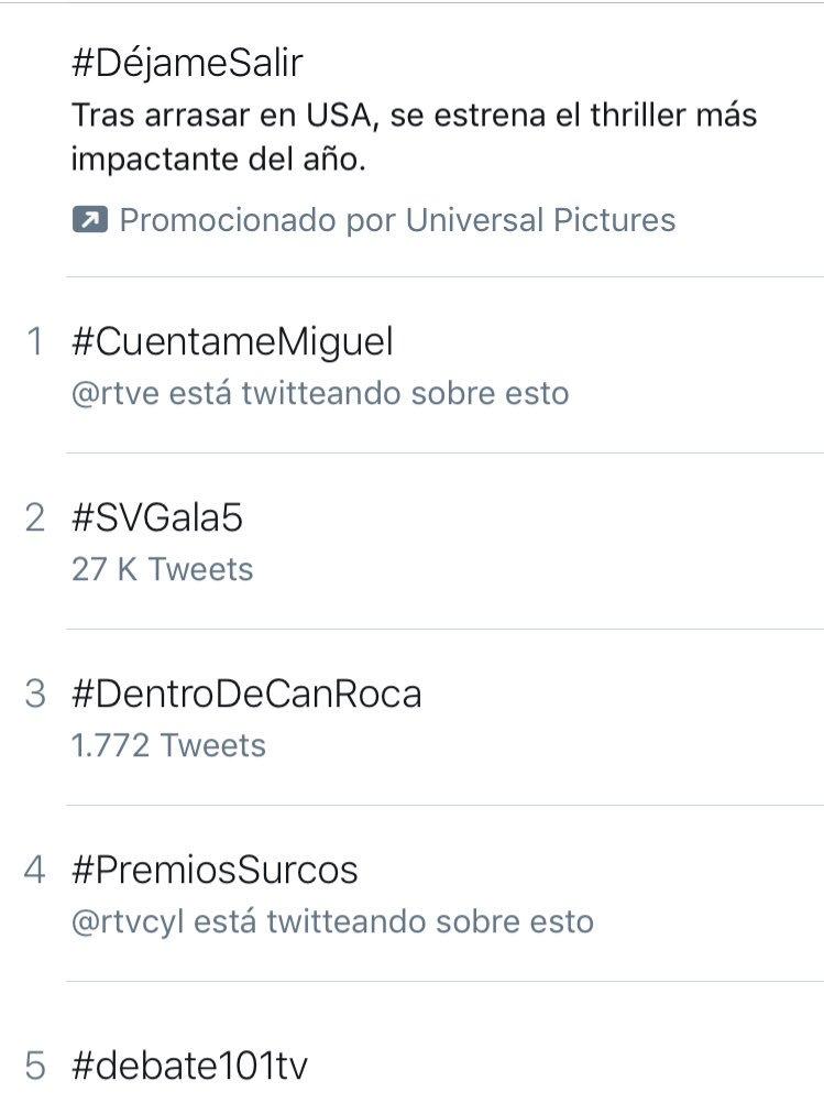 @Cristina_Carro @SurcosCyL #premiosSurcos trending topic a 0:55h no solo hoy sino los 365 días del año por la difusión y profesionalidad que teneis cada semana @rtvcyl https://t.co/kuxG8SkIkV