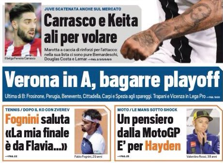 #TS:  -&gt; #Juve are also crazy on the mercato  -&gt; #Carrasco/#Keita: Wings to fly  #Marotta #Atleti #Lazio<br>http://pic.twitter.com/5z4xhgNYqP