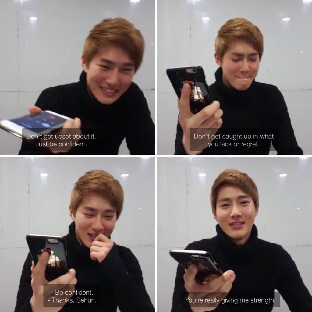 I love how when suho called sehun on vapp, Sehun asked him to ignore all the rude and mean comments. He's really precious #HappySehunDay pic.twitter.com/NvOjhh1oVC