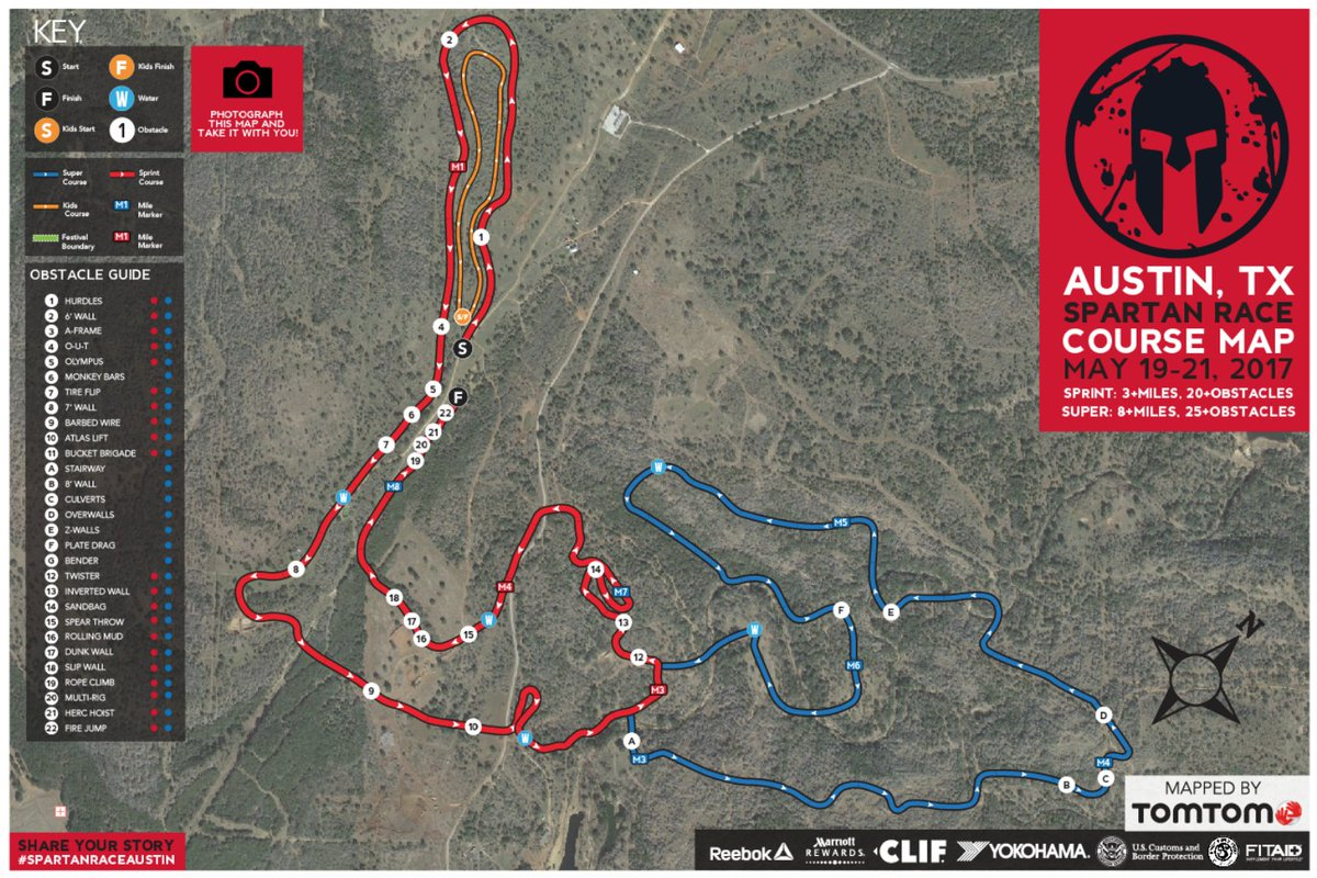 Ready yourselves for rugged climbs, muddy waters, and lots of obstacles this weekend in Austin,TX - Mapped by @TomTomUSA. #SpartanRaceAustin https://t.co/g6bUAgYlRy