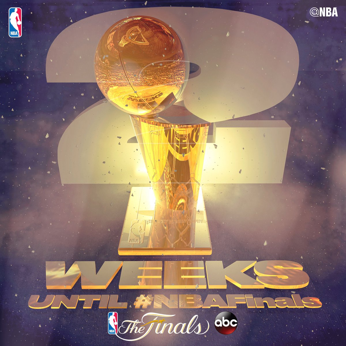 The 2017 #NBAFinals tips off in TWO WEEKS... June 1st on ABC! 🏆 #ThisIsWhyWePlay