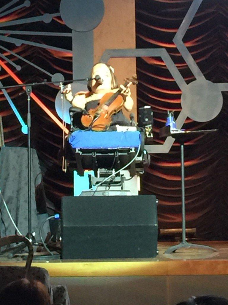 Gaelynn Lea sings Bird Why Do You Sing?  #nord rare impact #kgi sang along!! #biotech #biotechnology<br>http://pic.twitter.com/SsNASmuYXK