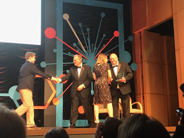 Thanks to the National Organization for Rare Disorders (#NORD) for awarding CSL Behring an Industry Innovator award tonight. @RareDiseases<br>http://pic.twitter.com/DZOOXkT5TD