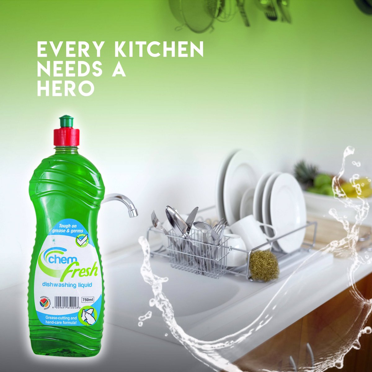 Everybody in life needs a hero just like every kitchen needs Chemfresh. Chemfresh is very tough on grease & gems.