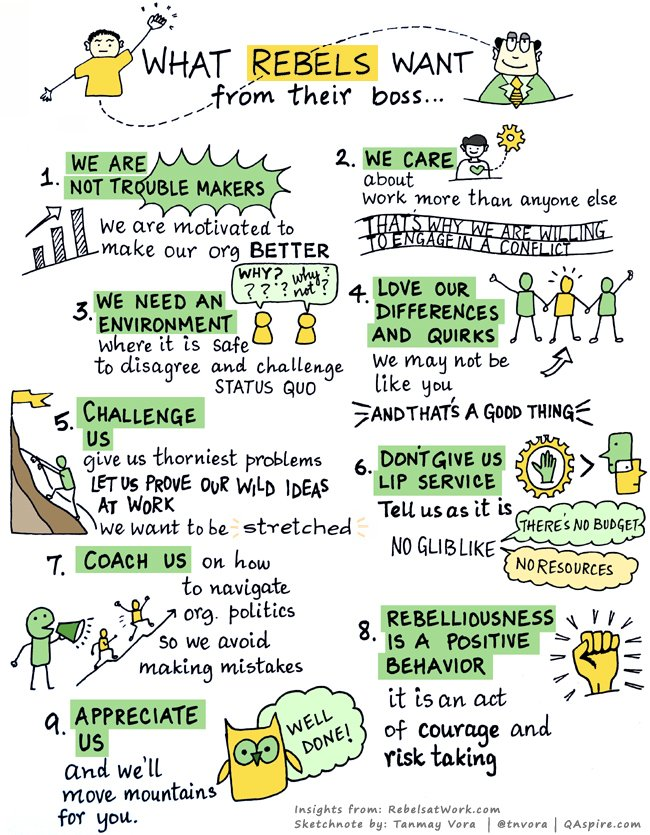 Sketchnote: What Rebels Want From Their Boss https://t.co/C0UlmeAgcu [New Post] https://t.co/q3XyX9xINk