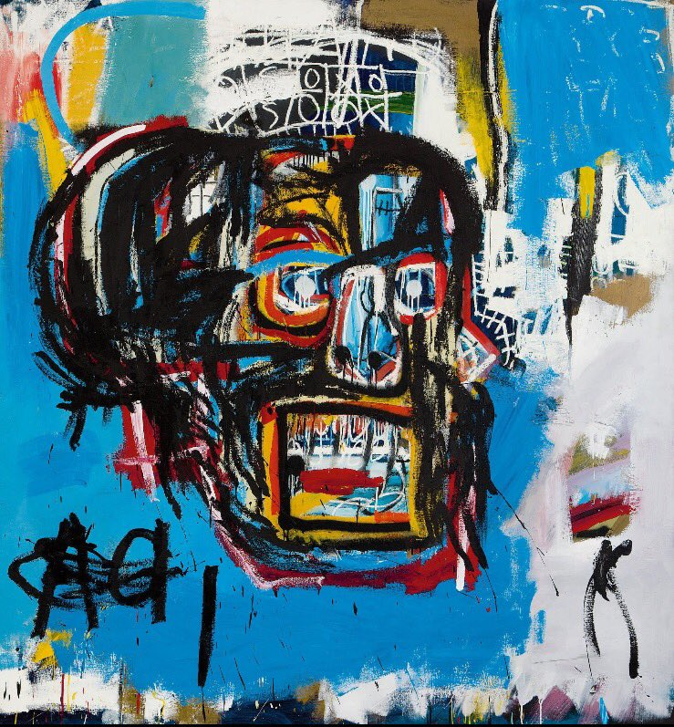 Folks, this #Basquiat &quot;painting&quot; sold for $110.5 million.  Every person alive today can produce better art, especially anyone who RTs this. <br>http://pic.twitter.com/Zk4WCqTWju