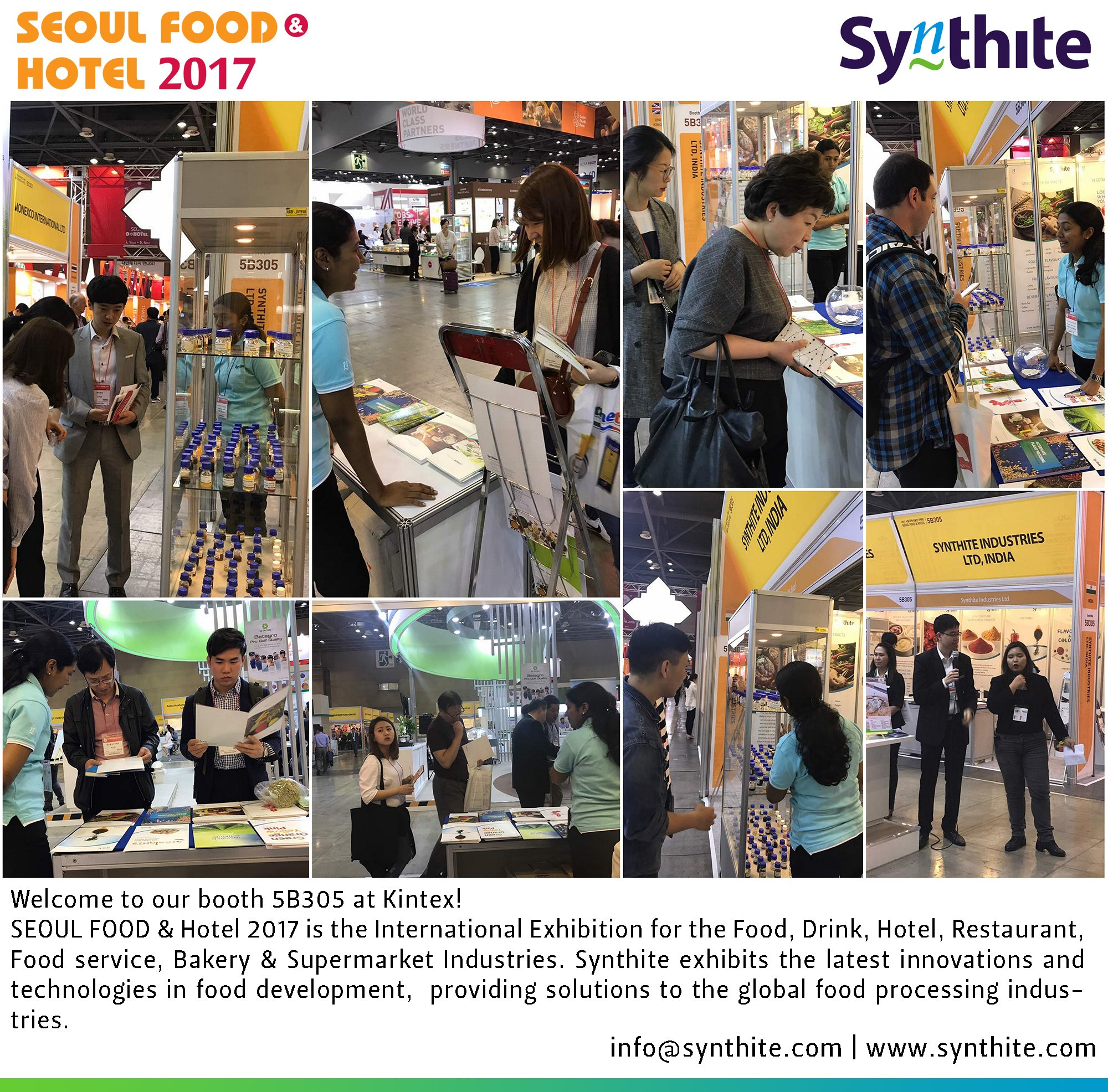 """synthite on twitter: """"last day at #seoulfood & hotel 2017. please"""