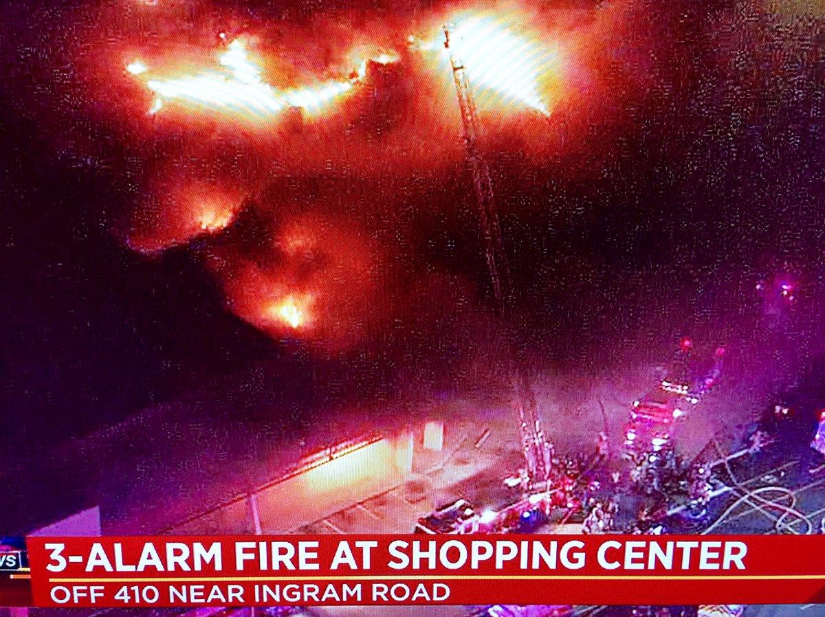 e41a203b867a6 breaking news 3 alarm fire near ingram park mall dozens of firefighters on  scene ksatnews
