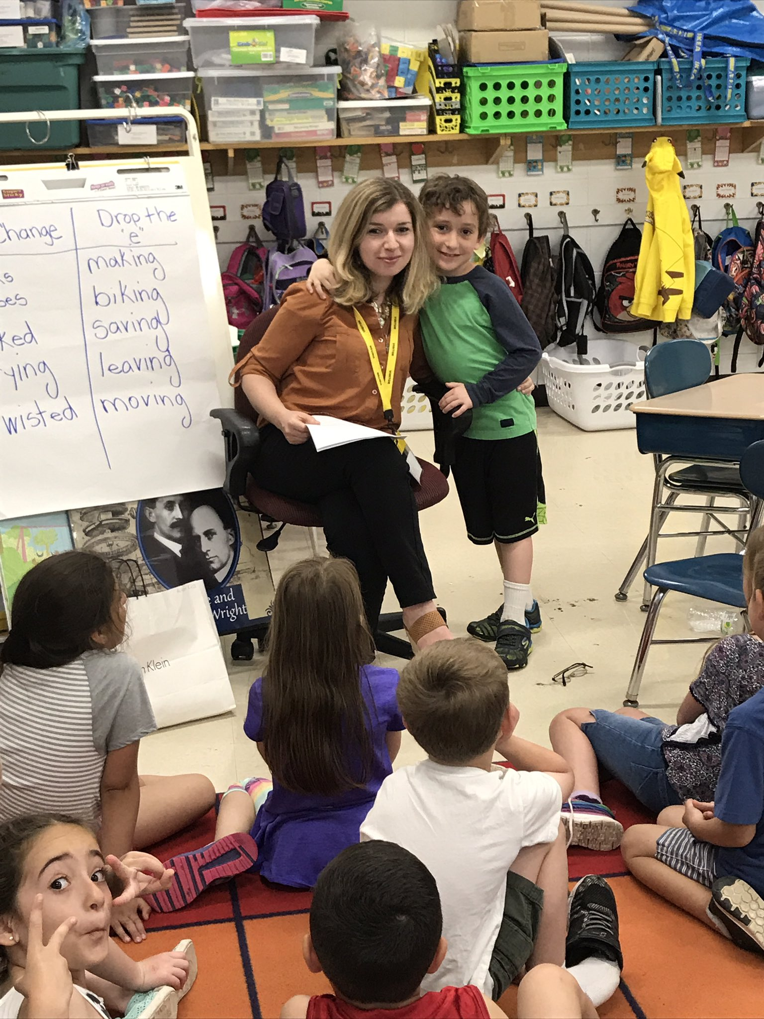 We love having parent guest readers! Mrs. K. Shared a story that she wrote for her children! #iginspires https://t.co/xkhf2fs9ef