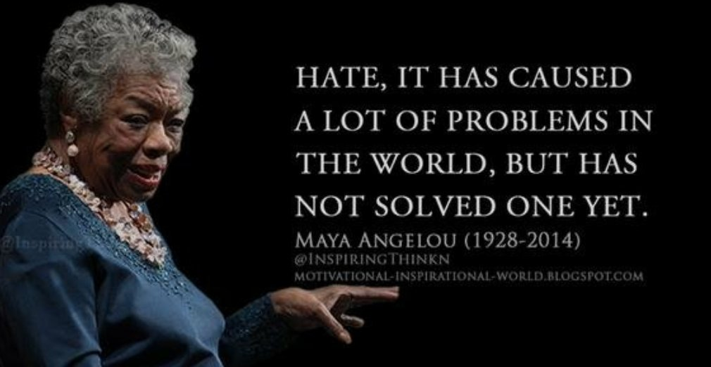 #Endtheviolence #Endhate #MayaAngelou  #strongertogether #Nastywomenpr...