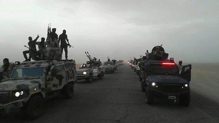 LNA 10th brigade is moving reinforcements to Brak al-Shati