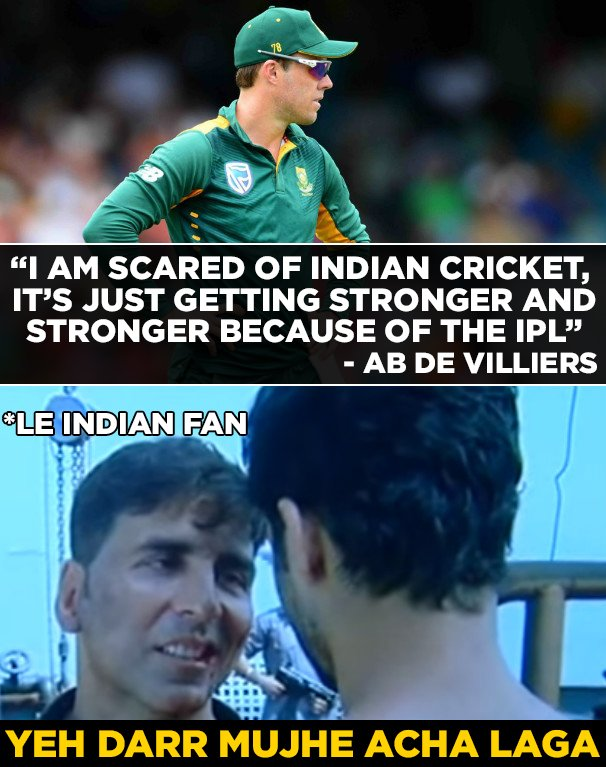 AB de Villiers feels Indian cricket is becoming stronger due to the IPL. #MIvKKR #IPL #T20 #CT17 #cricket<br>http://pic.twitter.com/bjoqaI5vYW