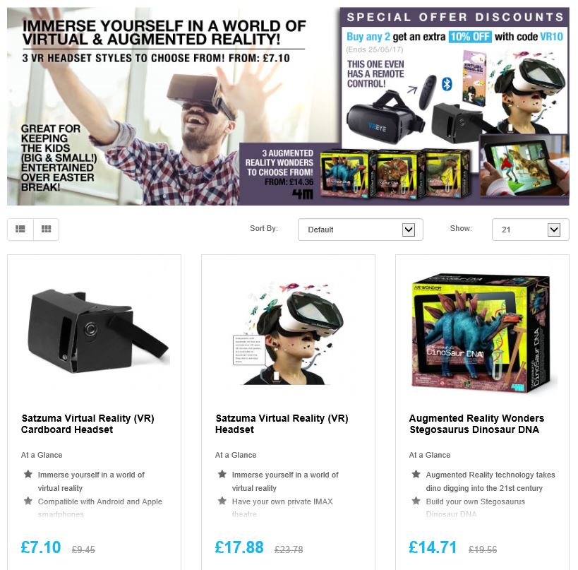 This Summer immerse URself in a world of VR &amp; AR  http:// ow.ly/YVJZ30bQeEm  &nbsp;   #RT #Follow #Win Save @myhotUKdeals #MultiBuy any 2 Extra 10% off <br>http://pic.twitter.com/nPVOkzuJa7