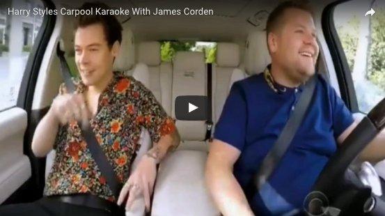 Harry So Harry Styles Carpool Karaoke With James Corden Is An