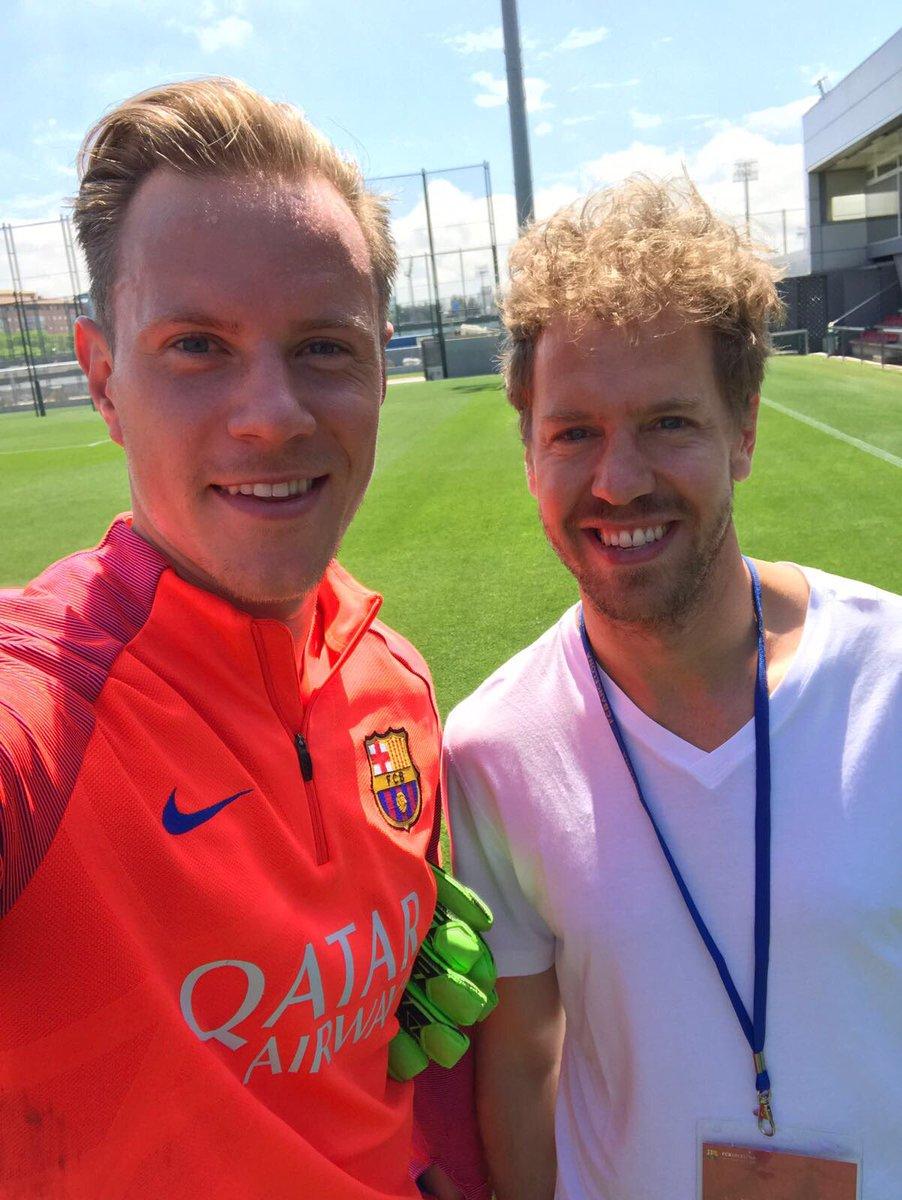 Marc Ter Stegen On Twitter Pleasure To Meet You Here In Bcn Sebastian Vettel