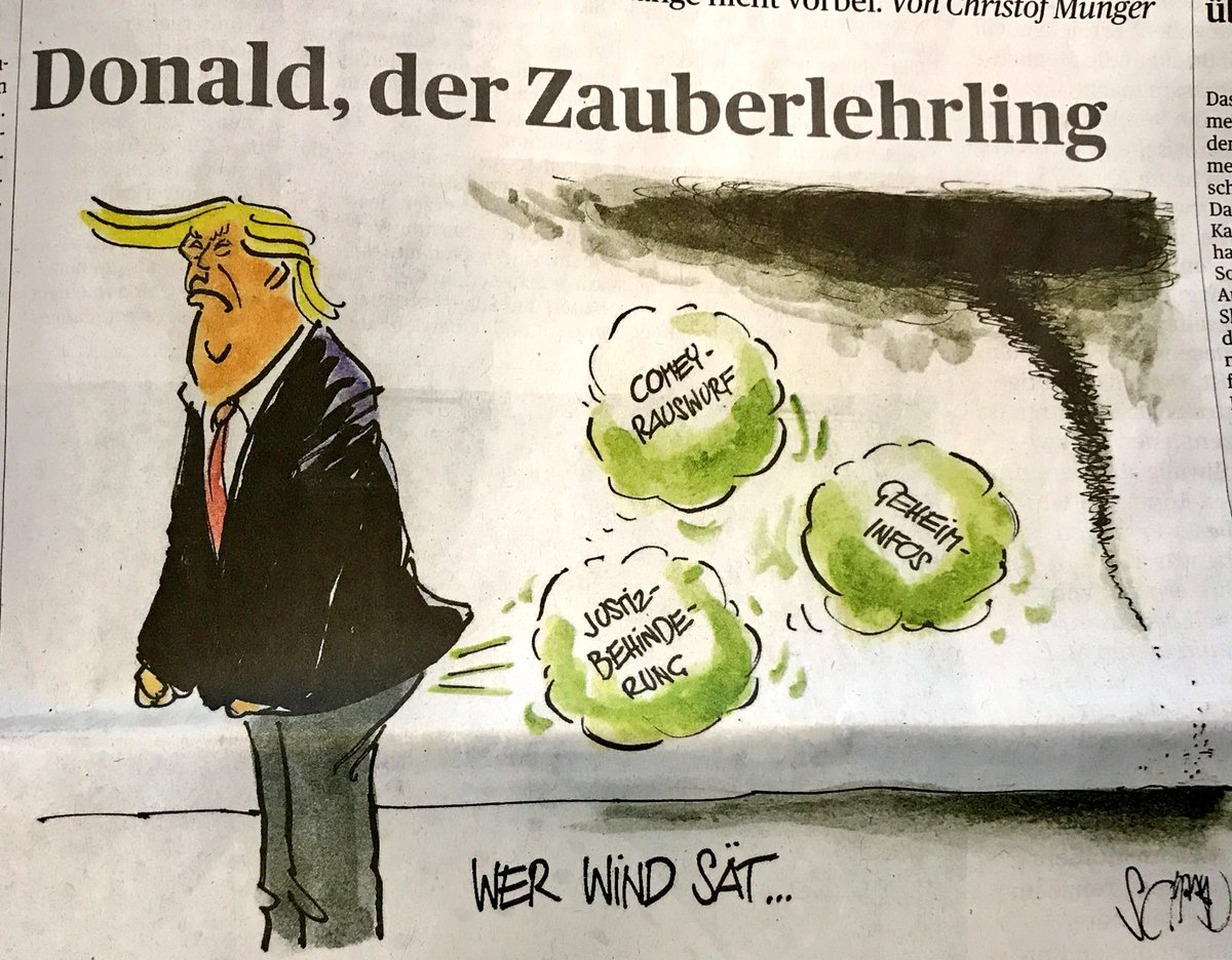 He who sows the wind shall reap the whirlwind #ComeyMemo #Flynngate - @tagesanzeiger