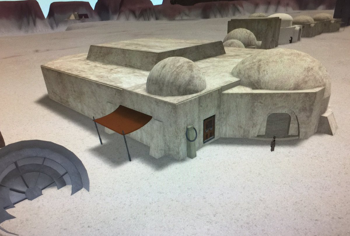 Star Wars style cantina in OSGrid #SWRP #OSGrid #StarWars #Jawa working on the cantina in Tatooine <br>http://pic.twitter.com/ak11rMTZuk