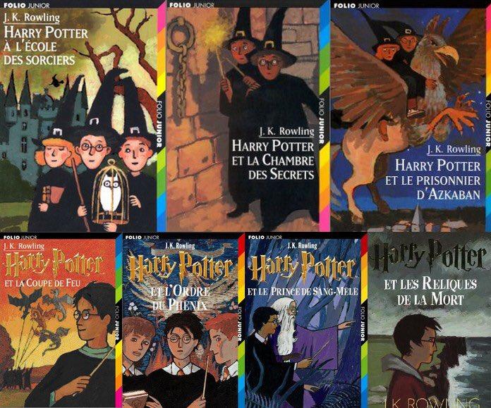 Pour le #VendrediLecture, on ne peut que vous encourager à lire ou relire l'un de ces merveilleux livres !  #HarryPotterpic.twitter.com/8ATc0aWiD6