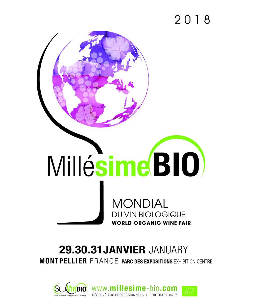 #MillésimeBio 2018 2018/01/29-31 in #Montpellier. Stand bookings from next June on @garatoni_luca @RealWineGuru @IlovefranceEU @Susan_PWZ<br>http://pic.twitter.com/YtVWGYnVBW