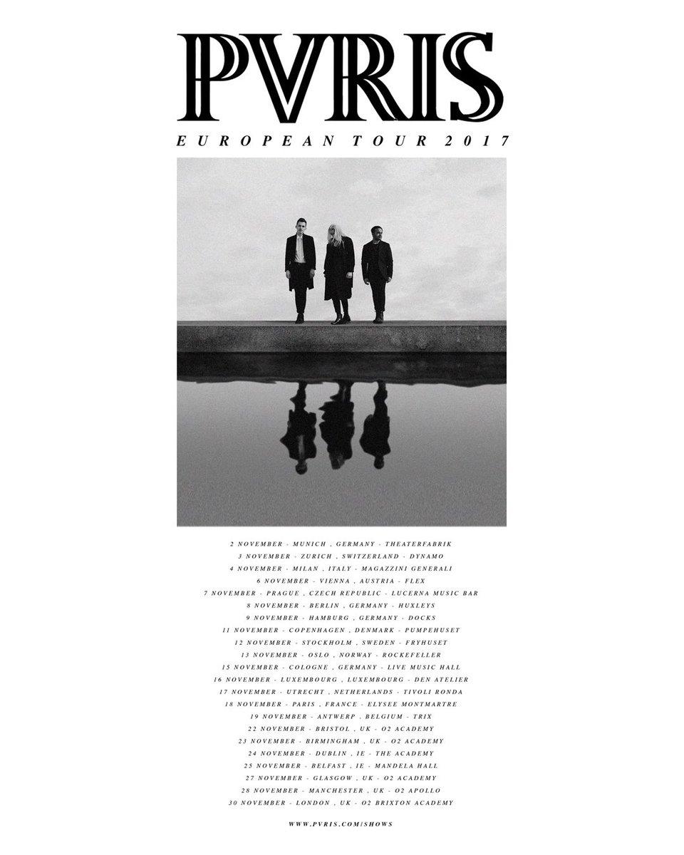 Pvris On Twitter Ga Vip Tickets For Our November 2017 Ukeu Tour