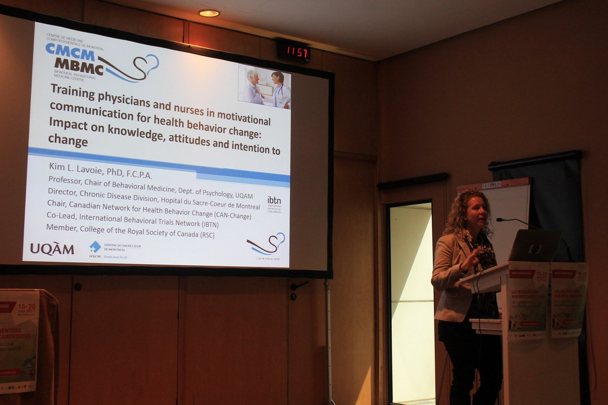 Kim L. Lavoie talks about the Impact of training physicians in motivational communication skills #iceps2017 #Montpellier @IBTNetwork<br>http://pic.twitter.com/0amh0n9FPT