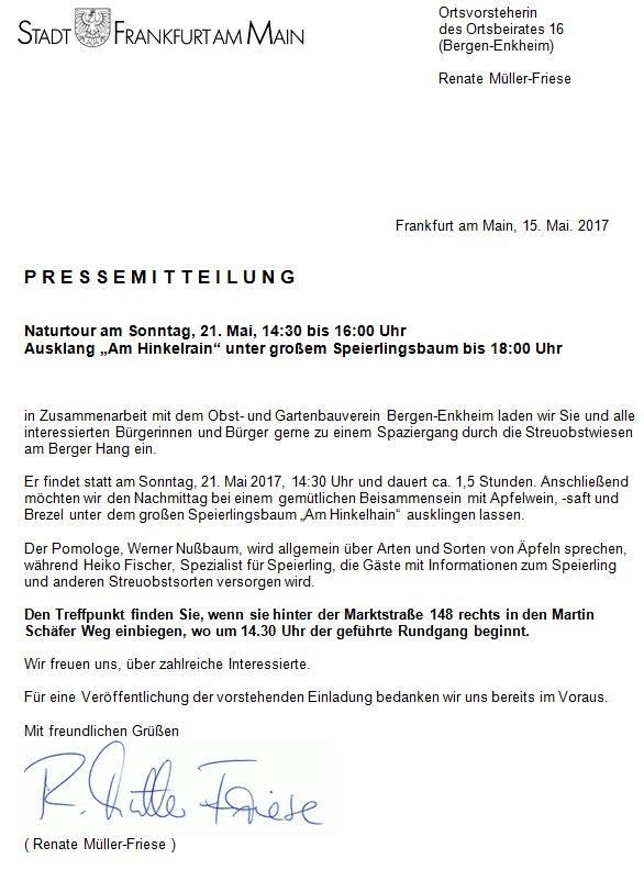bergen-enkheim - twitter search, Einladung