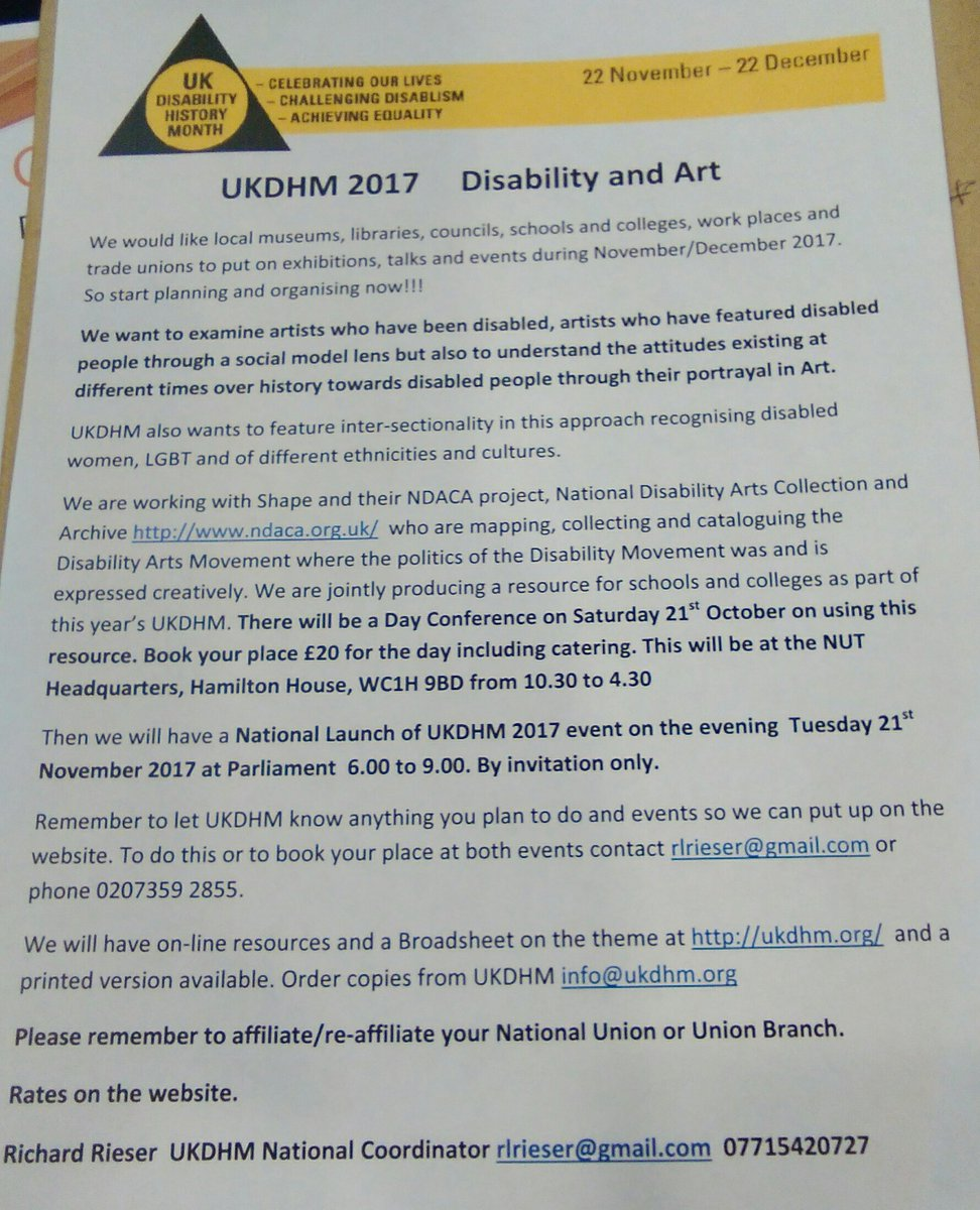 Gmail theme disabled - Great To See That Disability History Month Theme Will Be Disability Art This Year Tucdisability Ukdhm2017 Art4rightspic Twitter Com E9cxf5ykbw