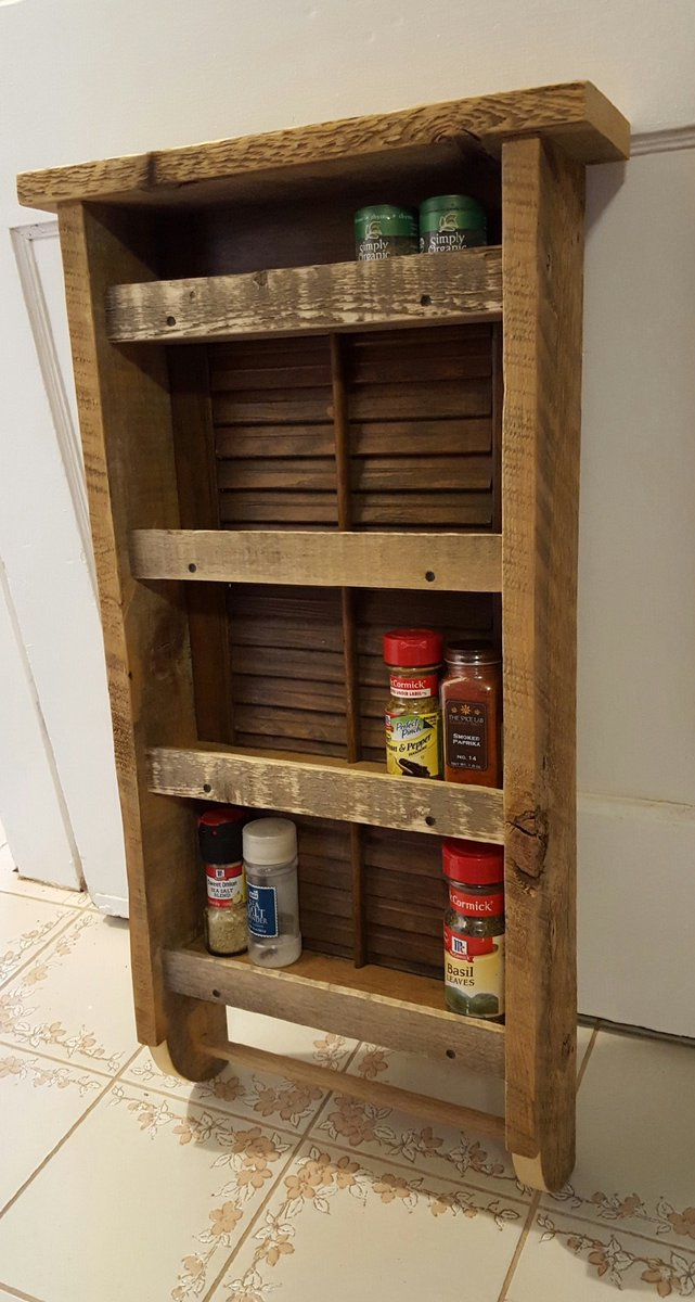 #spice #rack made from #repurposed #shutter  #etsychaching #antique #refurbished #wood #woodworking #follo4follo #like #etsy #kitchen<br>http://pic.twitter.com/wjcJhZIzcu