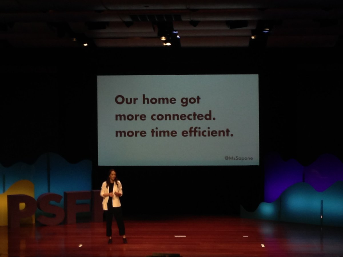&quot;We need to pay more attention to the experiences we are building and how we are connecting to ourselves and each other&quot; @MsSapone #psfk2017 <br>http://pic.twitter.com/3FSmqTWwMp