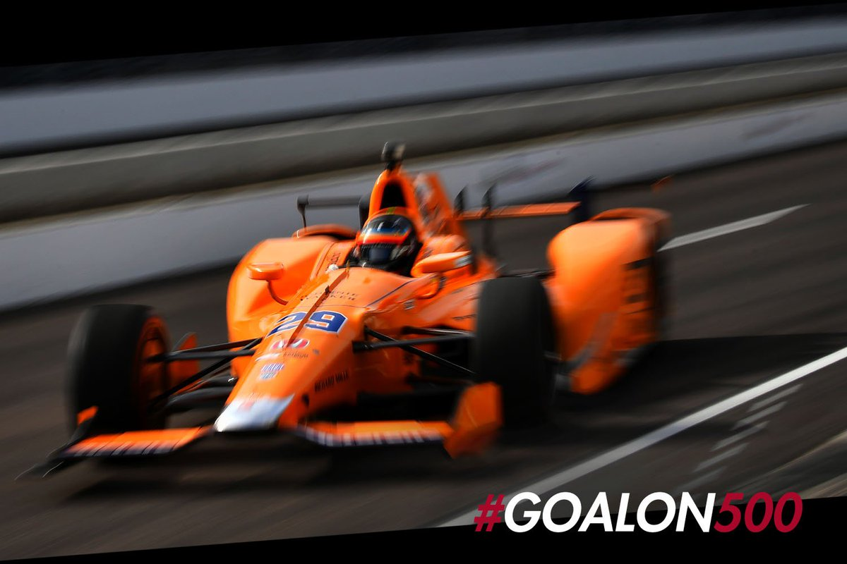 It's #FastFriday  @IMS. Time to turn up the turbos. Last chance for @alo_oficial to get some practice laps in before #Indy500 qualifying<br>http://pic.twitter.com/eFcKxszs04
