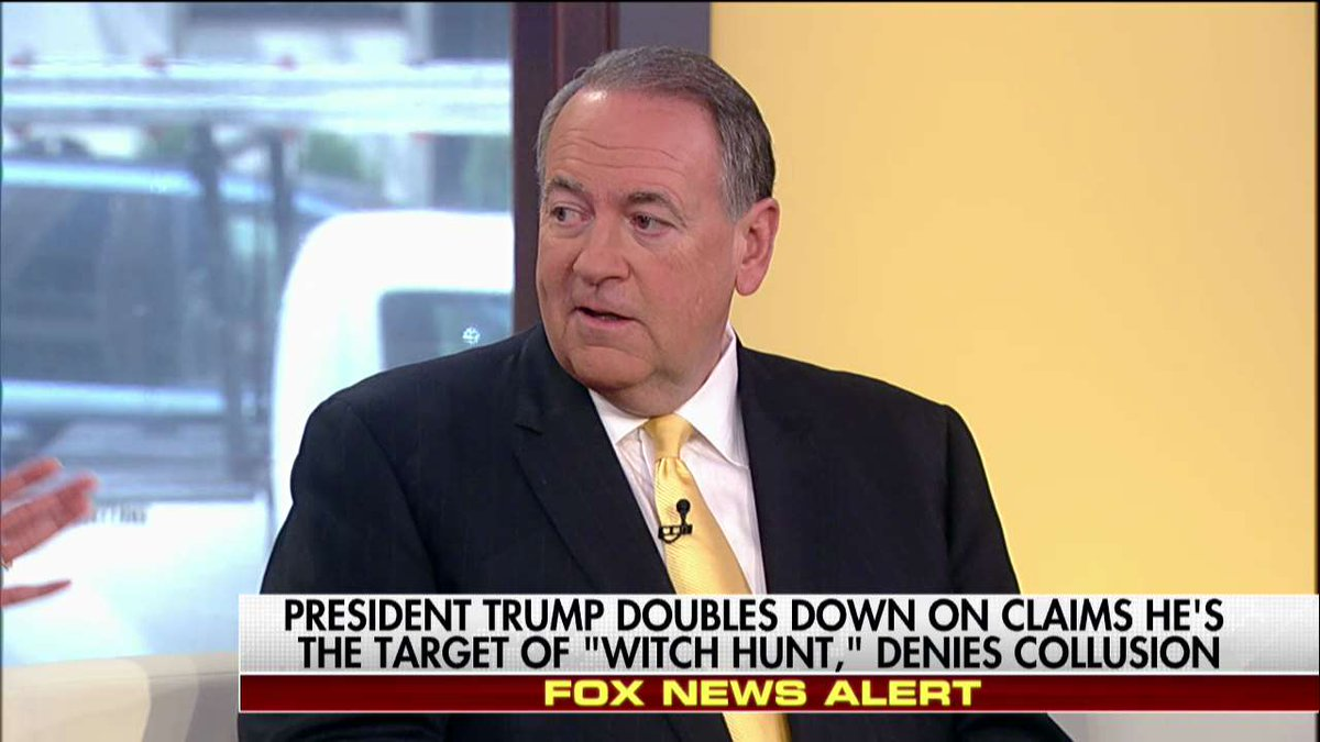 .@GovMikeHuckabee: '@MaxineWaters... HERSELF said there's no evidence of collusion.' #Outnumbered