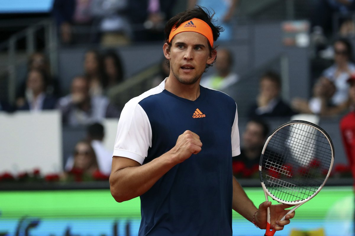 HUGE win for Dominic #Thiem! Beats Rafael #Nadal 6-4 6-3 after two losses in final to reach #Rome semi-finals! #IBI17<br>http://pic.twitter.com/p5oJ3uyUCO