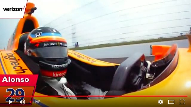 Dang. #Indy500 #FastFriday  pushing ALO over 230mph or 370kph. Why isn&#39;t @jimmyjohns #freakyfast sponsoring today&#39;s practice?  #IndyCar #F1<br>http://pic.twitter.com/9z8HQDF3vr