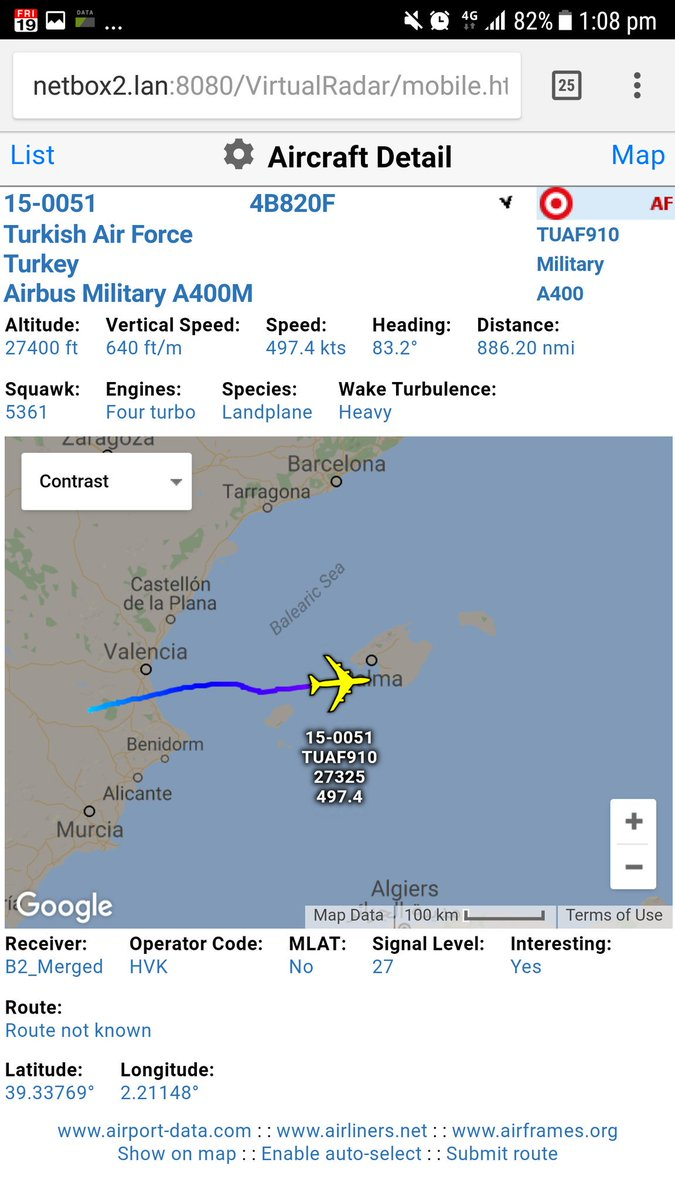 Heading out from Spain - A400M of Turkish Air Force