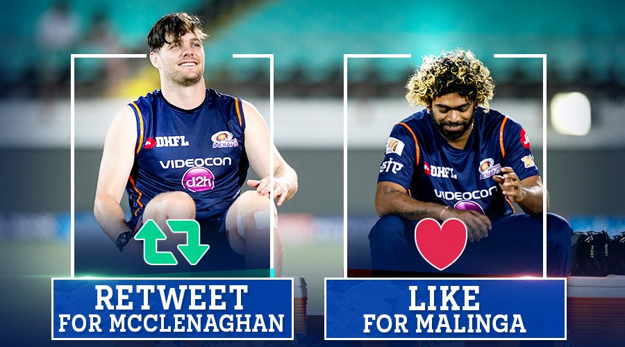 Who will take a wicket in his first over tonight?  Retweet   for Mitchell McClenaghan Like  for #Malinga #CricketMeriJaan #MIvKKR #MI<br>http://pic.twitter.com/H8PZGjGLfK