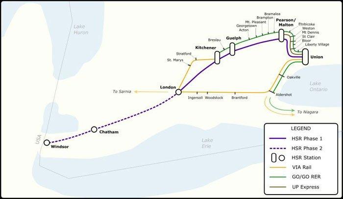 Via Rail Map on