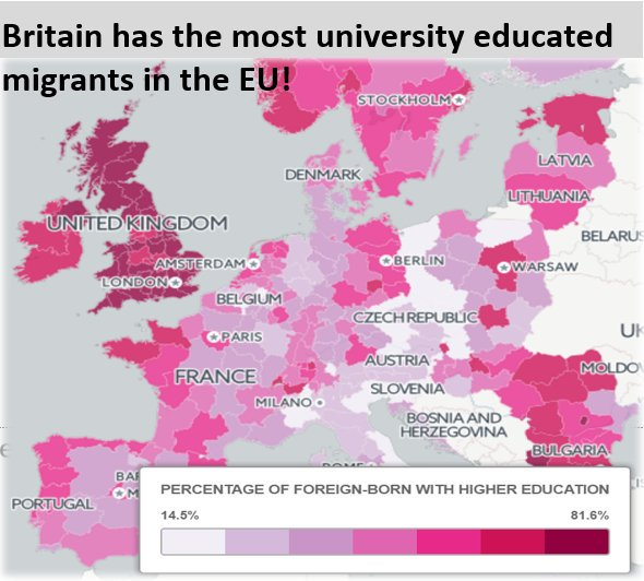 Britain has the most university educated...