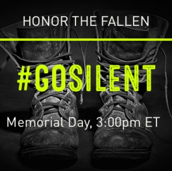 BREAKING: #GoSilent Digital Campaign to Honor Fallen Troops on Memorial Day https://t.co/eqpOVntCUQ https://t.co/O1TbPeVSk0