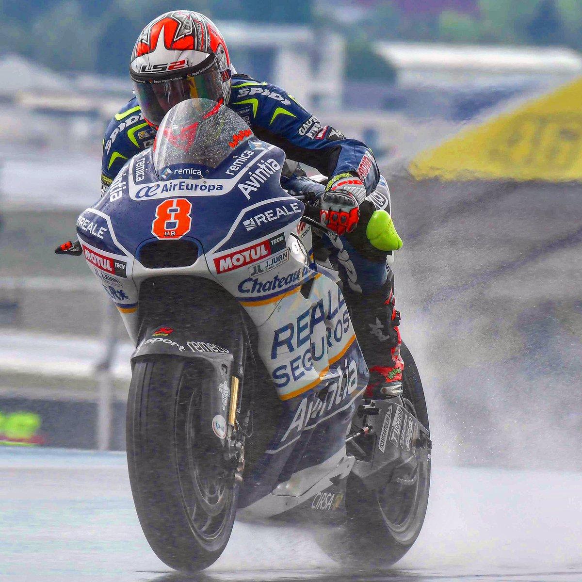 Rainy day @HectorBarbera #FrenchGP @MotoGP @realeavintia #speed #bikes #bikers #race #spidiwarrior #ridetrue