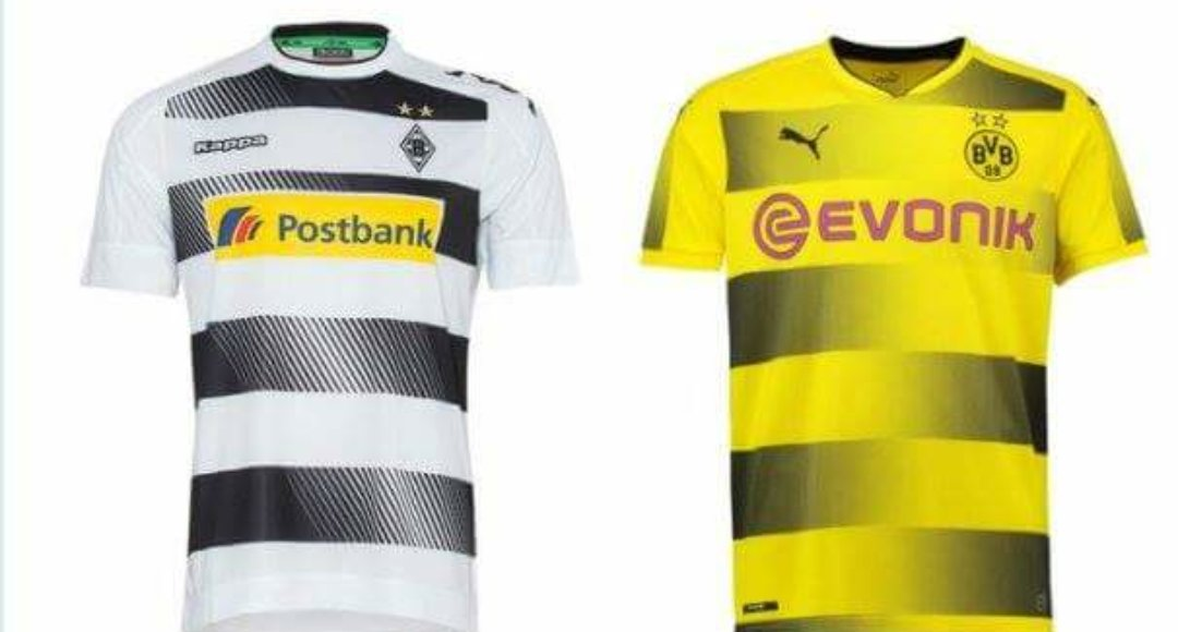 Borussia Mönchengladbach has accused Dortmund of copying their jersey layout on their 2017-2018 jersey. #bvb <br>http://pic.twitter.com/2aaJEKqxHW
