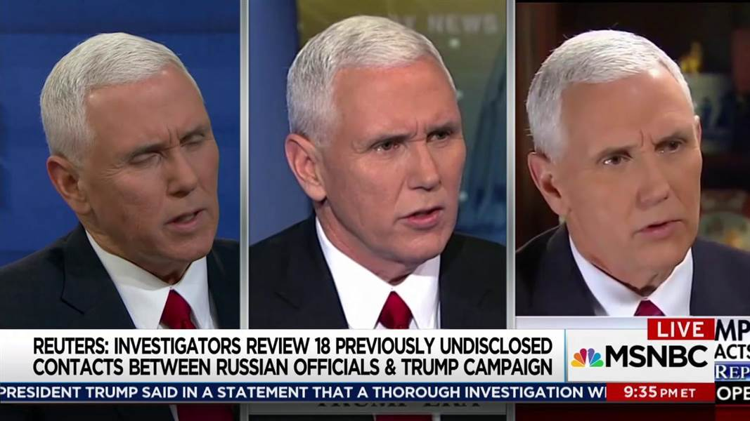 Maddow: Pence's false denials are stacking up: https://t.co/lBj71wPeV8