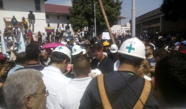 Students of Zulia University are on protest